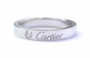 Cartier Cartier Platinum C De Cartier Diamond Wedding Band Size 50