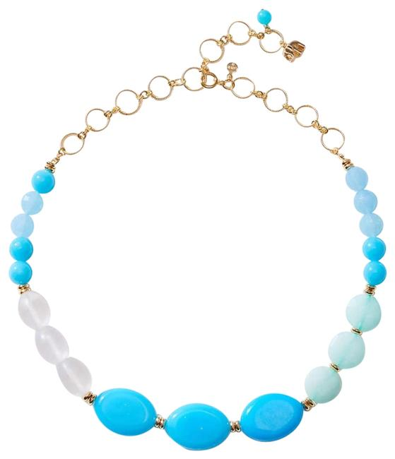 Item - Blue Mixed Stone Statement Necklace