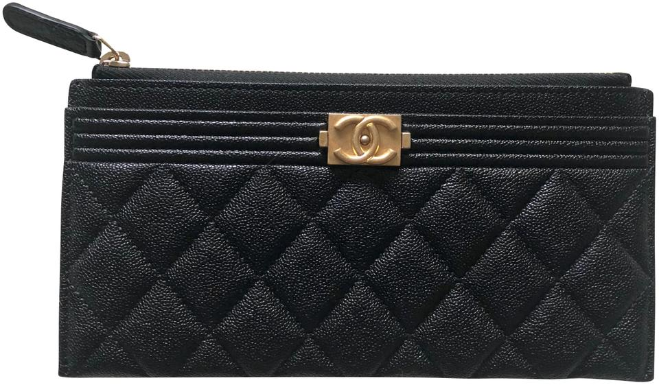cb022d80de71 Chanel Black Boy Pouch Wallet - Tradesy