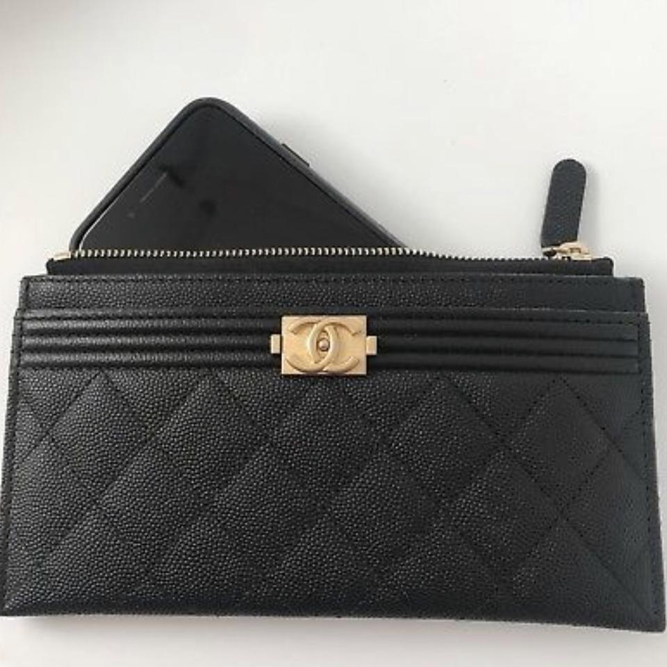 Chanel Black Boy Pouch Wallet - Tradesy 2de7f289ab02d