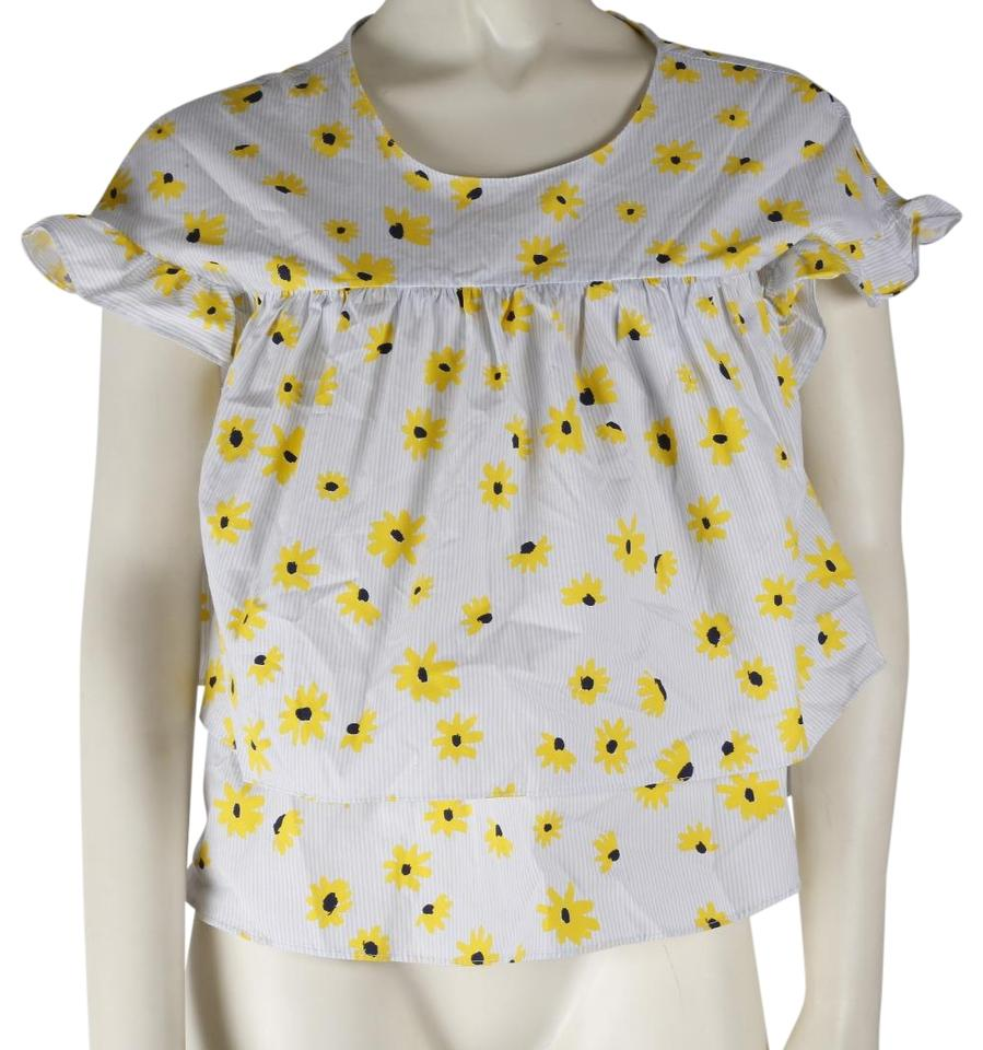 d045f763b1a855 Zara Multicolor Trafaluc Collection Flower Print Short Sleeve Tiered ...