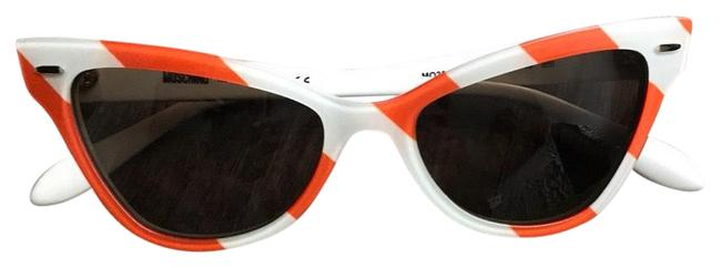 Item - Orange White Stripe Cat-eye Sunglasses