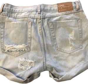 OneTeaspoon Denim Shorts-Light Wash
