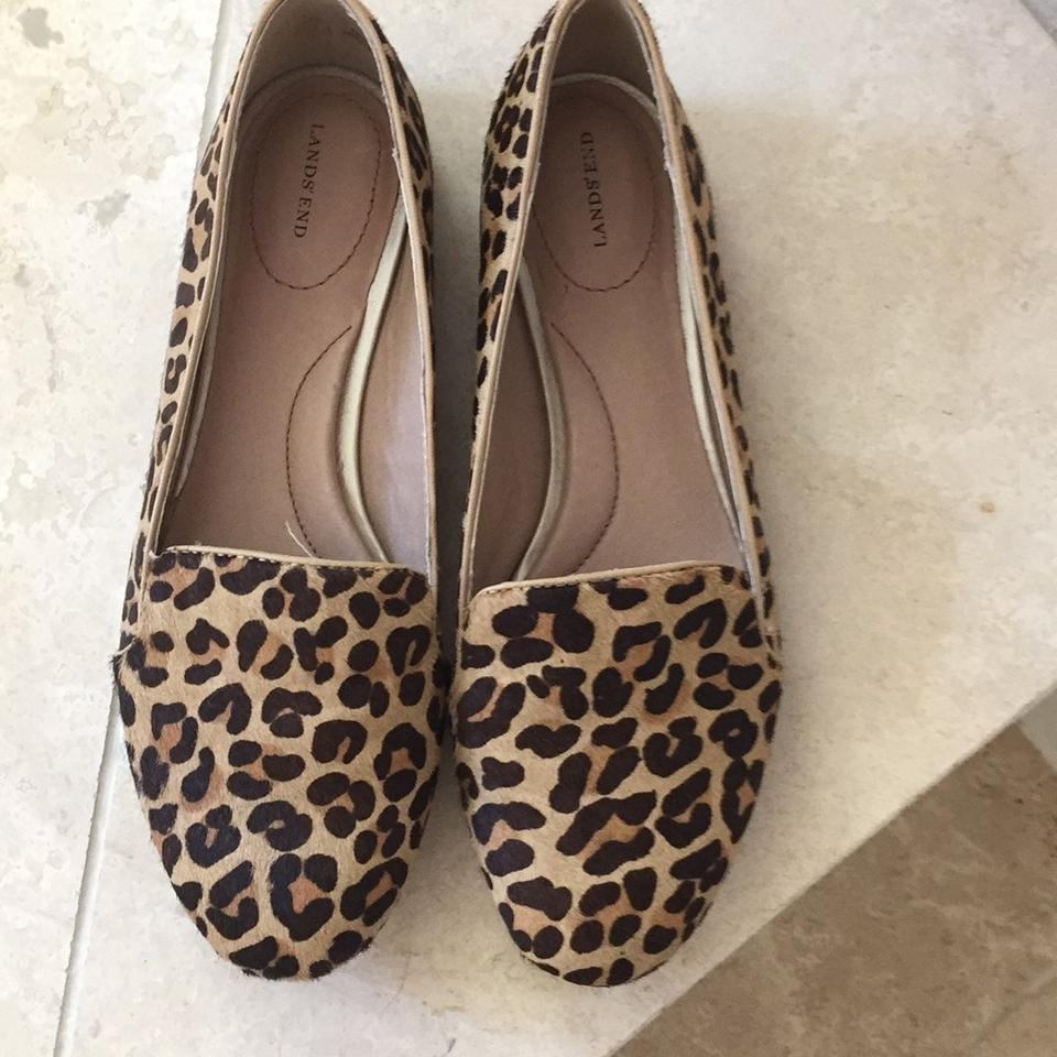 9e77f24d0691 Lands' End Leopard Print Calf Hair Loafer Flats Size US 7.5 Regular ...