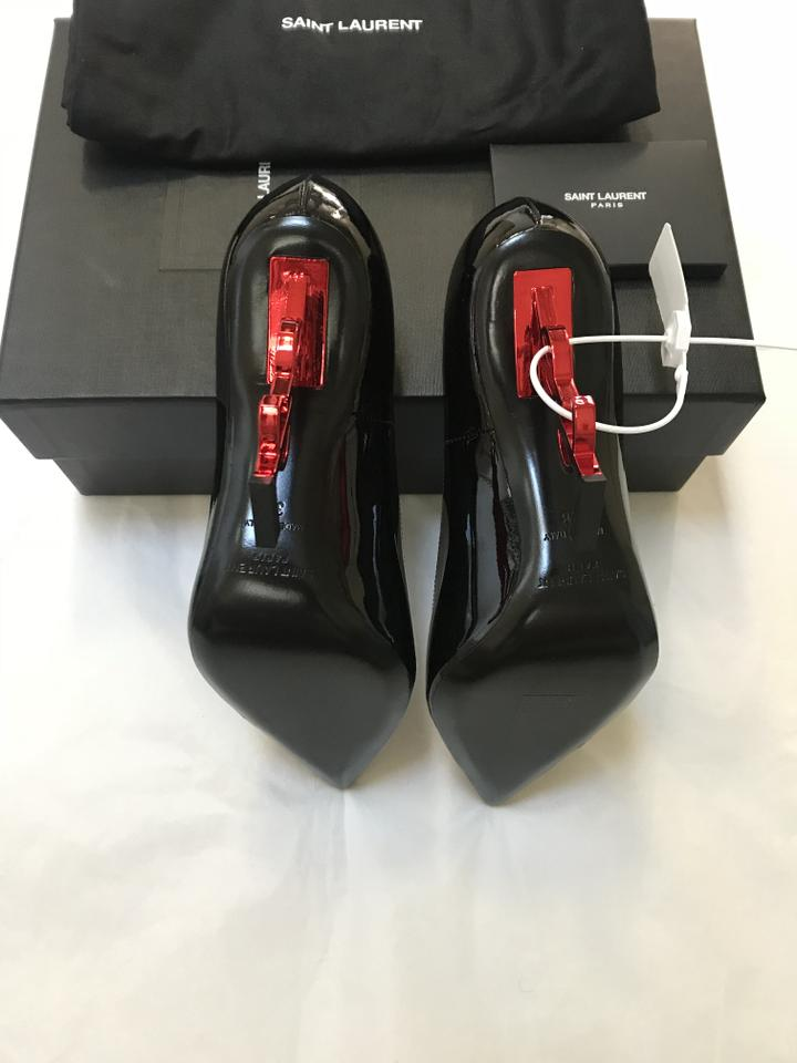 Pumps Leather Laurent Pair Last Saint Opyum Patent Black 110mm w80xFBq1x