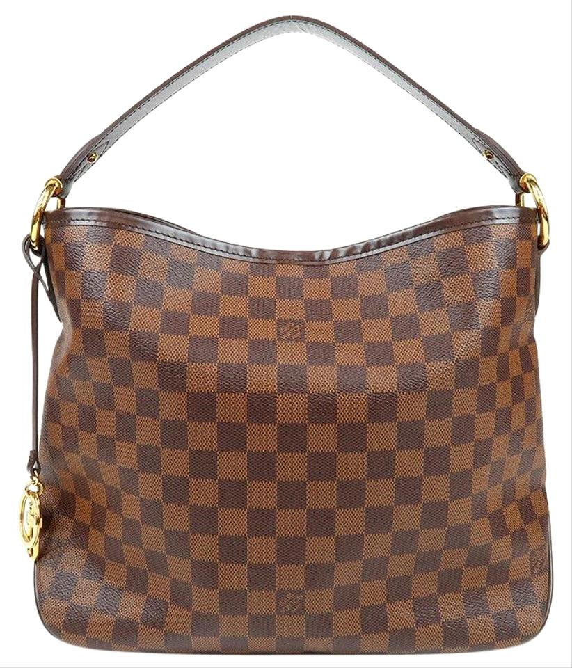 Louis Vuitton Delightful Like New Discontinued Pm Monogram Brown Leather Hobo Bag