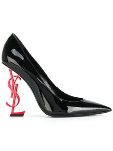 Saint Laurent Opyum Opyum 110mm Opyum Patent Leather Opyum Red Heel Last Pair Black Pumps