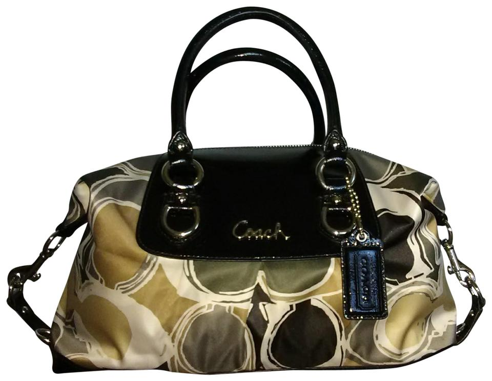 a9229bcef520 Coach Ashley Signature Carryall Multi Color Patent Leather  Sateen ...