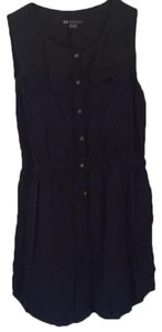 A|X Armani Exchange short dress navy with top detail on black on Tradesy
