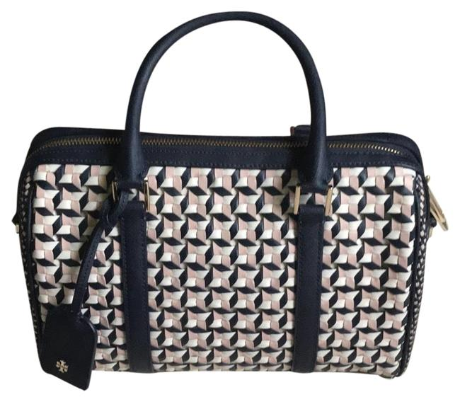 Item - Marion Pink/Blue/White Leather Satchel