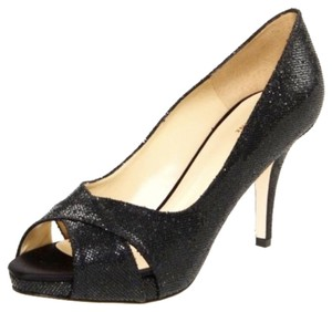Kate Spade Evening black glitter Pumps