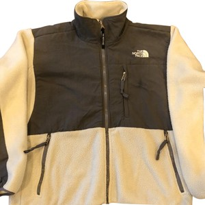 The North Face Ivory with Dark Gray Jacket