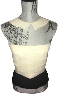 Chanel Ivory and Black Halter Top