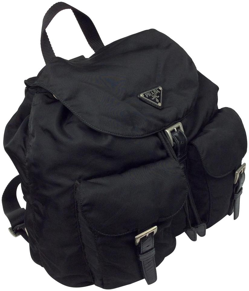 Prada Prada Black Nylon Backpack Black xqwfBzH0T
