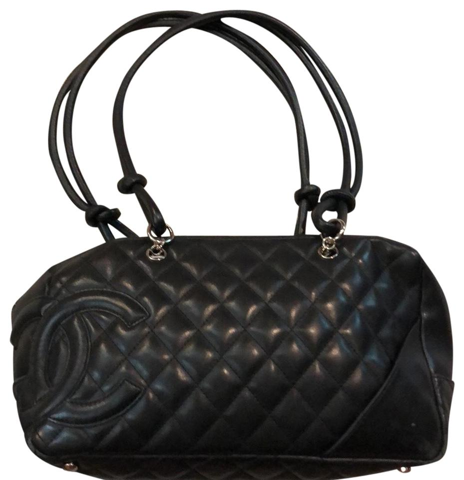 ed5d3d4a6ae0 Chanel Cambon Quilted Cc Logo Ligne Bowler Handbag Black/Hot Pink ...