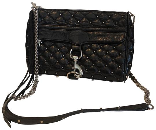 f6925d615dfb Black Leather Crossbody Bag With Silver Hardware | Stanford Center ...