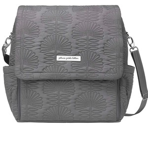 Petunia Pickle Bottom Grey w/ silver hardware Diaper Bag