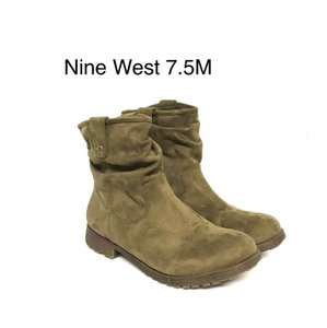 Nine West green Boots