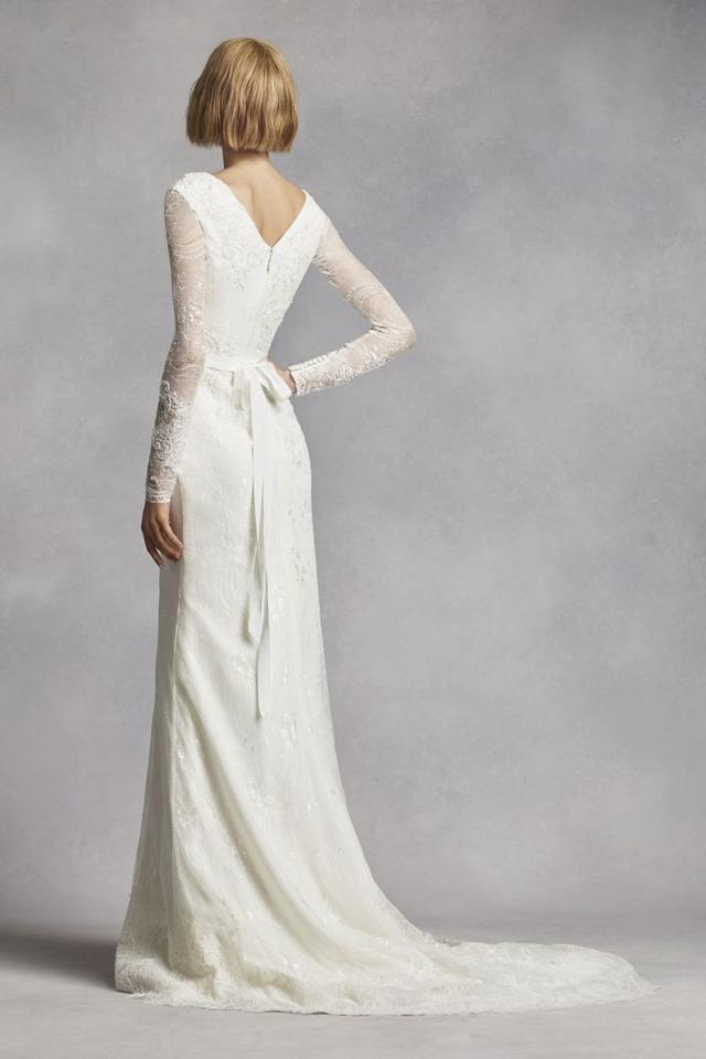 84fa2e493070 White by Vera Wang Ivory Lace Layers with Vw351270 Traditional Wedding  Dress Size 10 (M ...