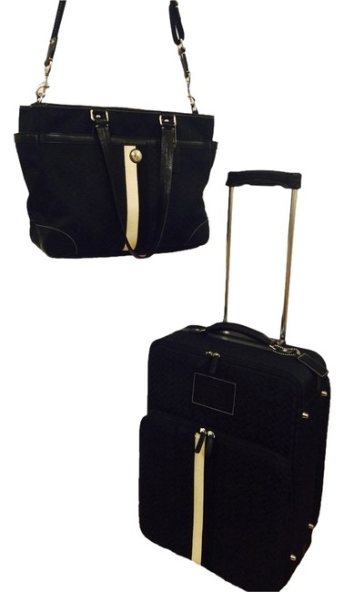 Item - Black and White Canvas Weekend/Travel Bag