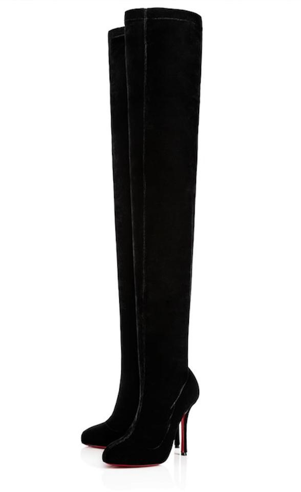 91a7e2765ef Christian Louboutin Stiletto Thigh High Otk Stretchy Classe black Boots  Image 0 ...