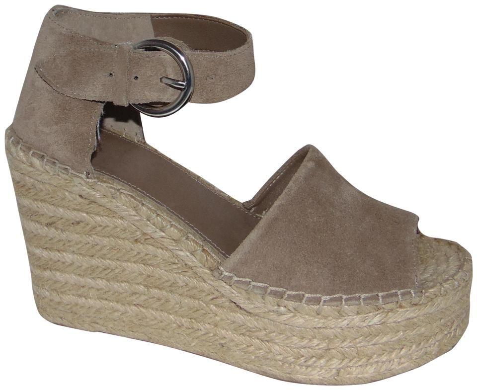 320793e53e Marc Fisher Taupe Suede Espadrille Wedge Alida Sandals Size US 6.5 ...