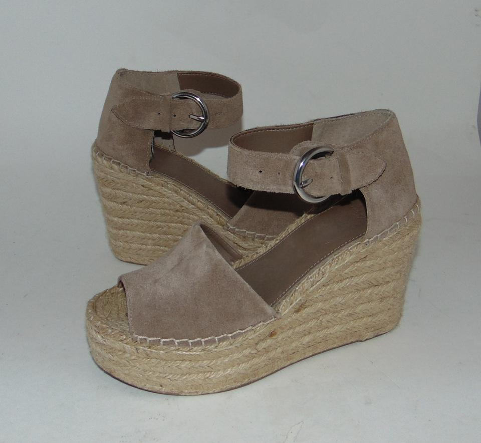55468a17930 Marc Fisher Taupe Suede Espadrille Wedge Alida Sandals Size US 6.5 ...