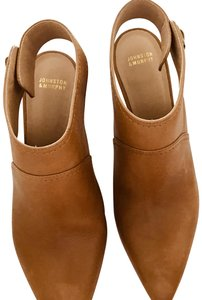 Johnston & Murphy Women's Heel Bootie Brown Camel Leather Camel-brown Pumps