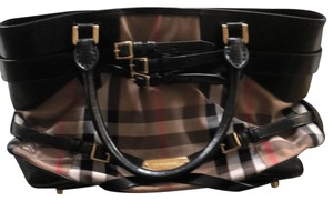 Burberry London Satchel in Vintage Check and Black