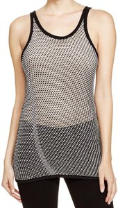 DKNY Rayon Midweight Top Black white