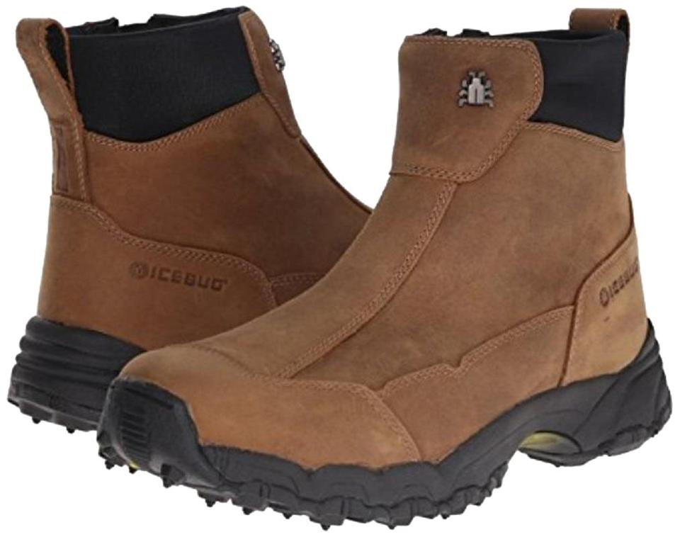 Brown Icebug Metro L Classic Studded Traction Winter Snow