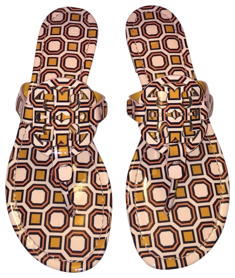 Tory Burch Burch Tory Miller Printed Patent Sandals 453129