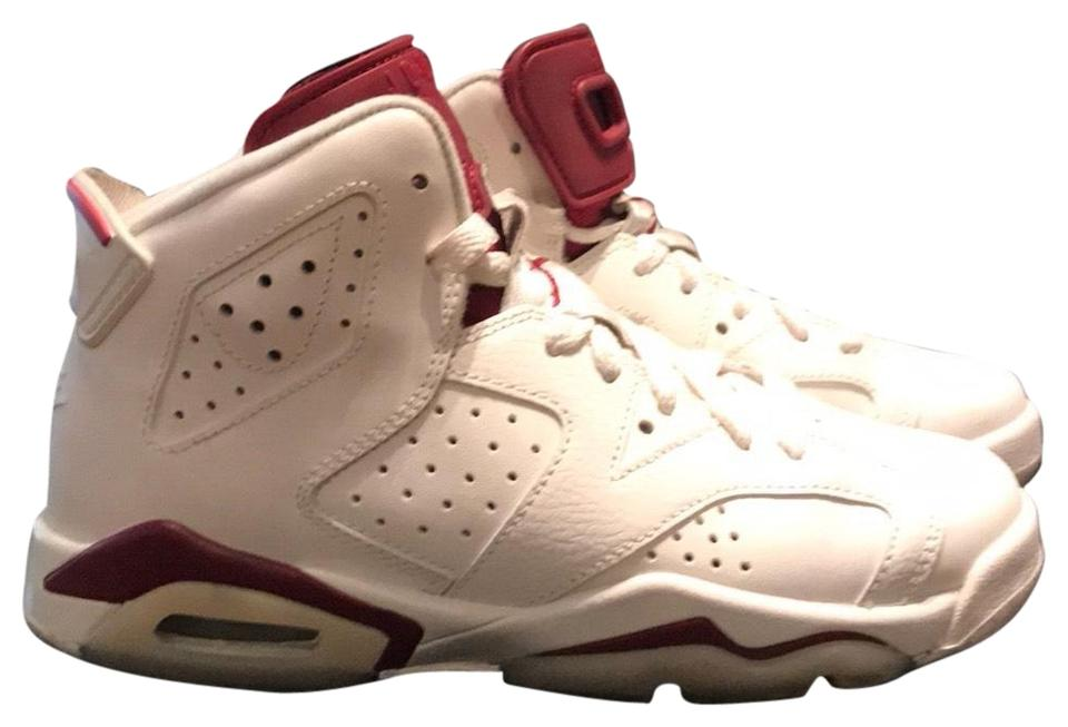 official photos 1f857 af021 Air Jordan White/Maroon 6 Retro Og Bg Sneakers Size US 4 Regular (M, B)
