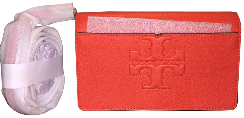 245e4732a873 Tory Burch Bombe T Small In Poppy Red Leather Cross Body Bag - Tradesy