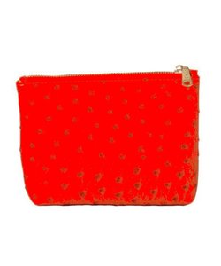 Christopher Kon Co-Lab by Christopher Kon Ostrich Embossed Cosmetic Bag