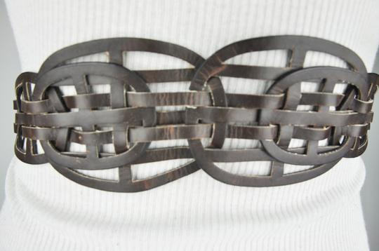 Unbranded Brown Bohemian Style Wide Belt Image 2