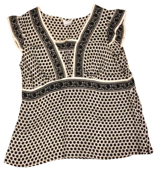 Item - Black and Ivory Flutter Sleeve Summer Maternity Top Size 4 (S)