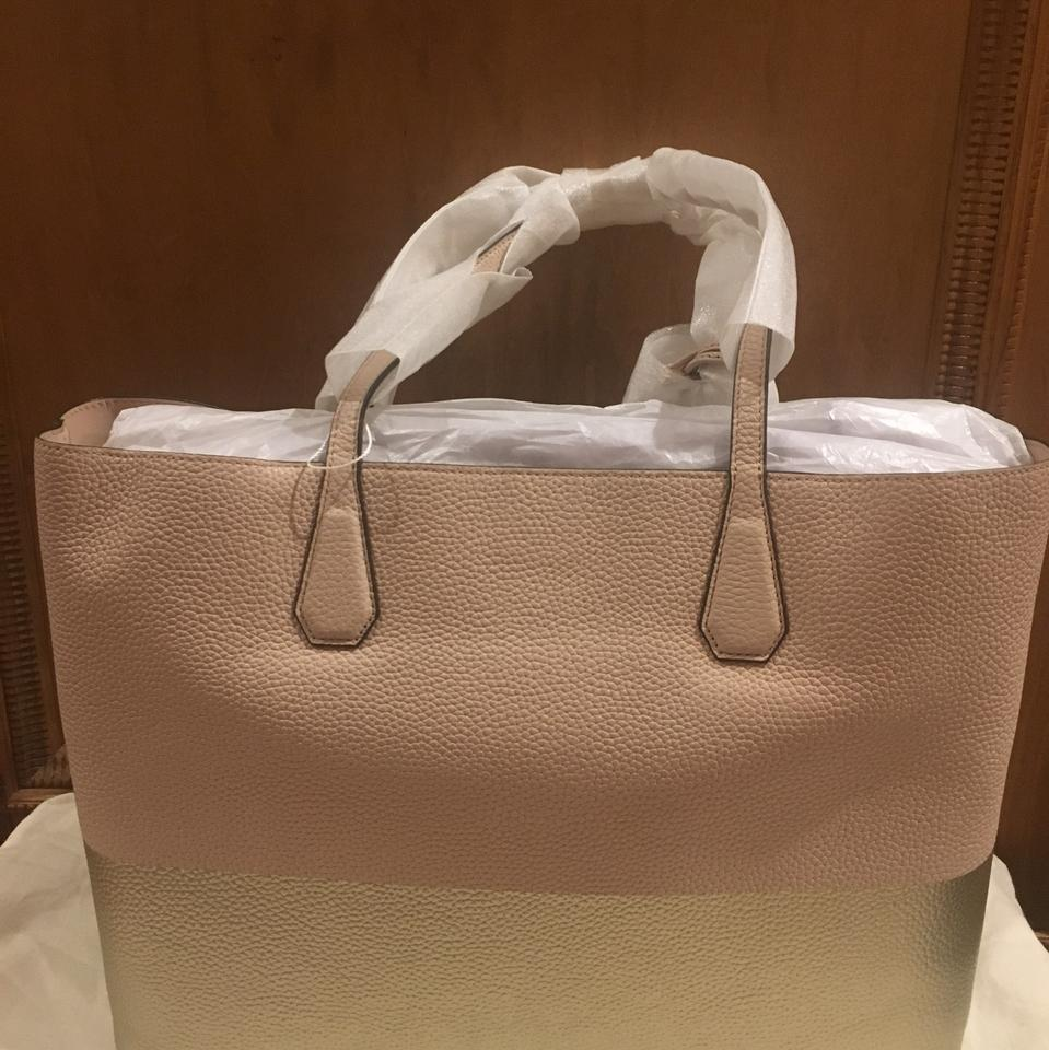 c53967eb2d2 Tory Burch Perry Colorblock Light Oak  Gold Pebbled Leather Tote ...