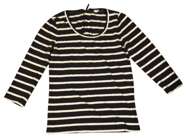 Item - Charcoal Gray and White Soft Striped Tunic Size 8 (M)