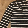 J.Crew Charcoal Gray and White Soft Striped Tunic Size 8 (M) J.Crew Charcoal Gray and White Soft Striped Tunic Size 8 (M) Image 2