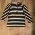 J.Crew Charcoal Gray and White Soft Striped Tunic Size 8 (M) J.Crew Charcoal Gray and White Soft Striped Tunic Size 8 (M) Image 3