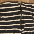 J.Crew Charcoal Gray and White Soft Striped Tunic Size 8 (M) J.Crew Charcoal Gray and White Soft Striped Tunic Size 8 (M) Image 4