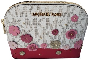 Michael Kors NWT Michael Kors Emmy Large Travel Pouch Pink Floral Vanilla