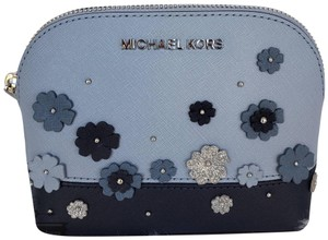 Michael Kors NWT Michael Kors Large Travel Pouch cosmetic bag floral navy blue
