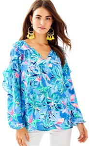 Lilly Pulitzer Top Bennet Blue