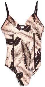 SeaFolly NWT Seafolly Palm Beach Black & White One-Piece Swimsuit, Size 12