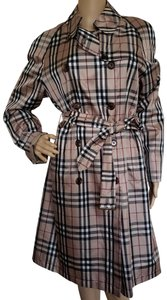 Burberry Nova Check Belted Monogram Silver Hardware House Check Trench Coat