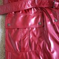 Burberry Red Beige Vermillion Nova Check Print Belted Coated Jacket Size 10 (M) Burberry Red Beige Vermillion Nova Check Print Belted Coated Jacket Size 10 (M) Image 8