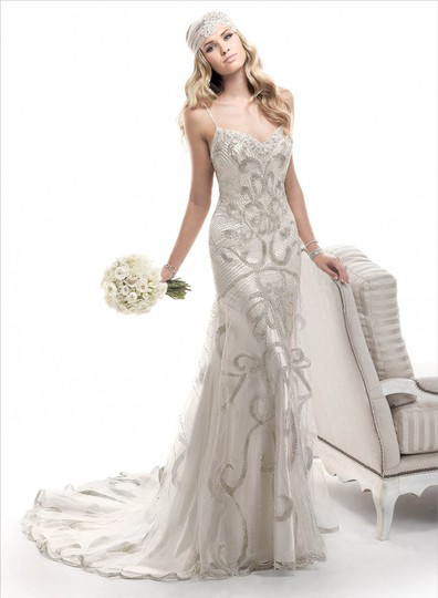 Preload https://img-static.tradesy.com/item/23645623/maggie-sottero-alabaster-with-silver-accent-shown-champagne-with-silvergold-accent-tulle-over-evita-0-0-540-540.jpg