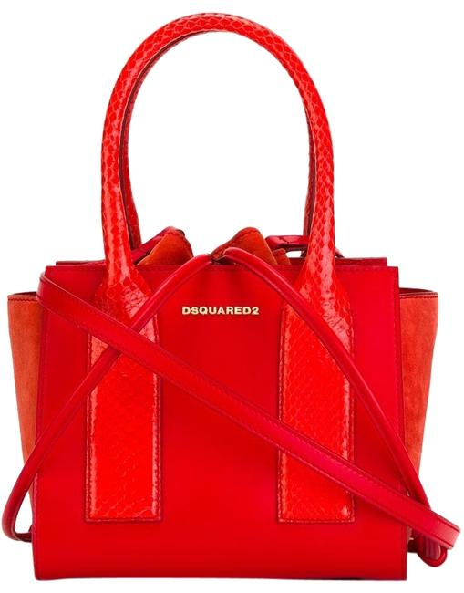 Item - 'twin Peaks' Red Leather Tote